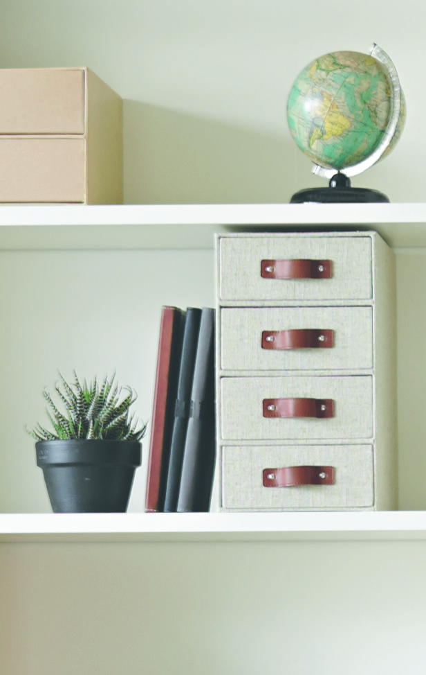 X 4 High Vertical Storage Drawers Linen