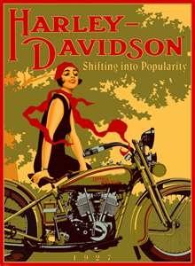 Harley Davidson advertisement- love vintage posters.                                                                                                                                                     Más