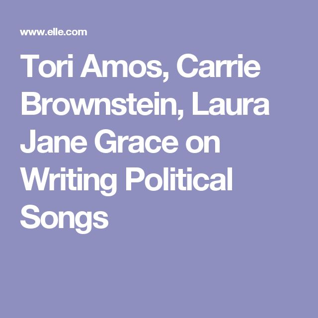 Tori Amos, Carrie Brownstein, Laura Jane Grace on Writing Political Songs