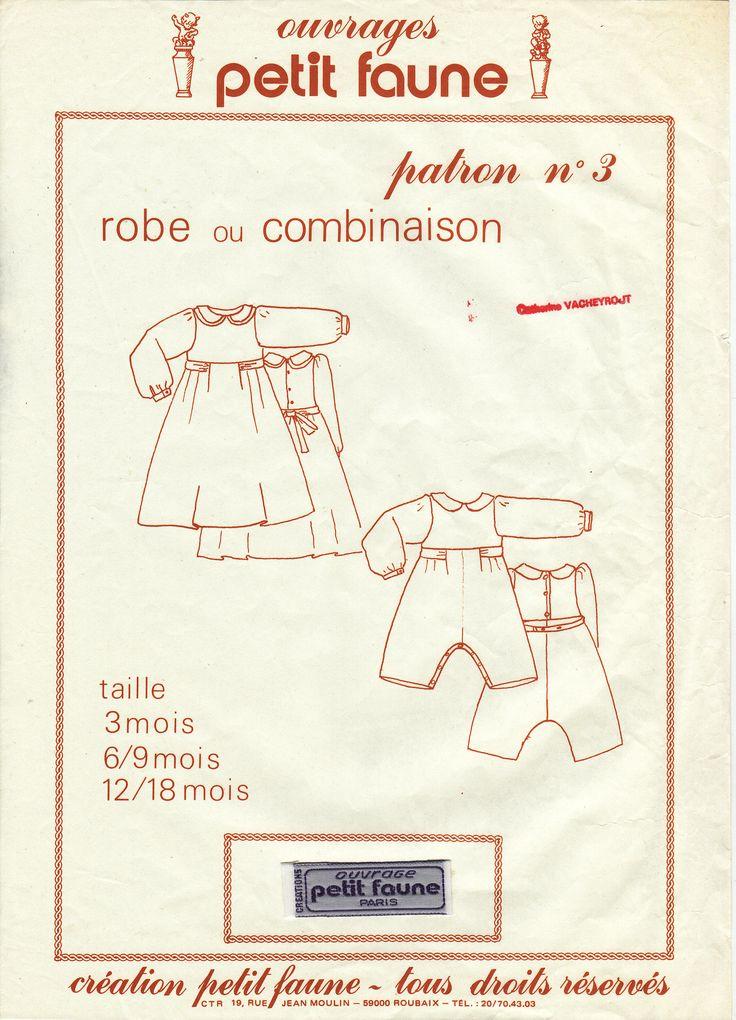 3- robe ou combinaison (3à18mois)
