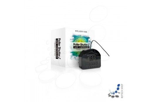 FIBARO Roller Shutter 2 dient zur Steuerung der Markisen und Rolladen. Das Gerät wird in einer Wanddose direkt hinter dem Schalter platziert und sendet ein Signal an die Steuerung, um die Jalousien entsprechend zu öffnen oder zu schließen. Diese Steuerung kann entweder über den lokalen Schalter oder über Funk erfolgen.