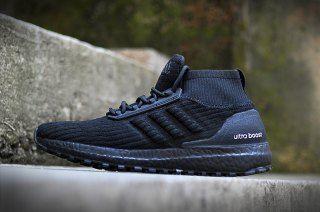 3046a8f5df2 Mens Womens Adidas Ultra BOOST ATR Running Shoes Triple Black ...