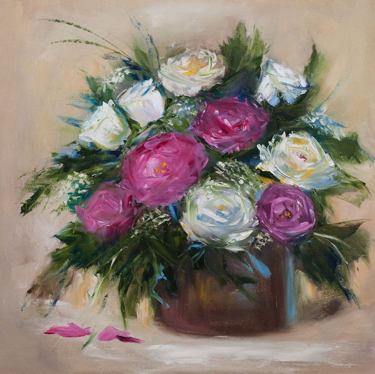 Buy Small Bunch of Roses, Oil painting by Liudmila Pisliakova on Artfinder. Discover thousands of other original paintings, prints, sculptures and photography from independent artists.