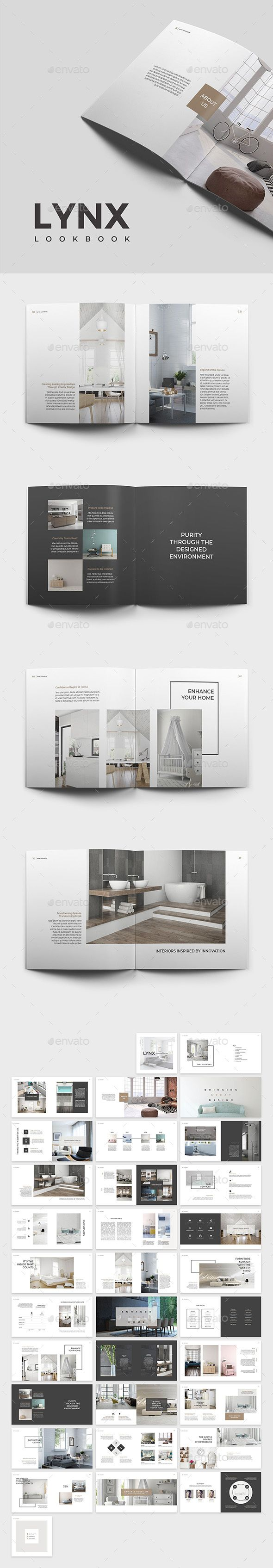 Lynx Lookbook Template InDesign INDD - 64 Pages