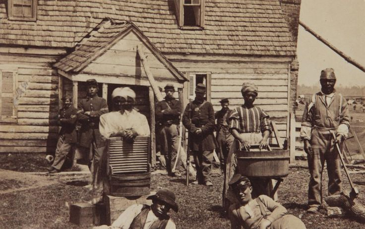 Contrabands at Headquarters of General Lafayette by Mathew Brady - American Civil War - Wikipedia, the free encyclopedia