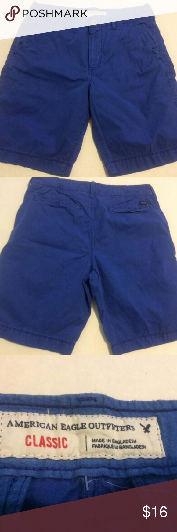 """AMERICAN EAGLE MENS SHORTS AMERICAN EAGLE MENS SHORTS TAG SIZE 32 MEASUREMENTS ARE WAIST33"""" RISE 11.5"""" INSEAM 10"""" VERY NICE PAIR OF SHORTS SMOKE & PET FREE HOME PLEASE LOOK AT ALL PICTURES !!  THANK YOU FOR LOOKING!! AMERICAN EAGLE Shorts"""
