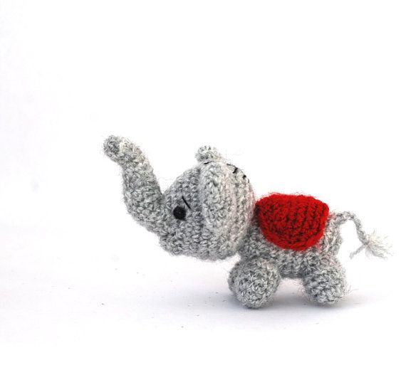amigurumi elephant, tiny elephant doll, small elephant toy, little elephant plush, crochet elephant, stuffed animal, luck, fortune doll