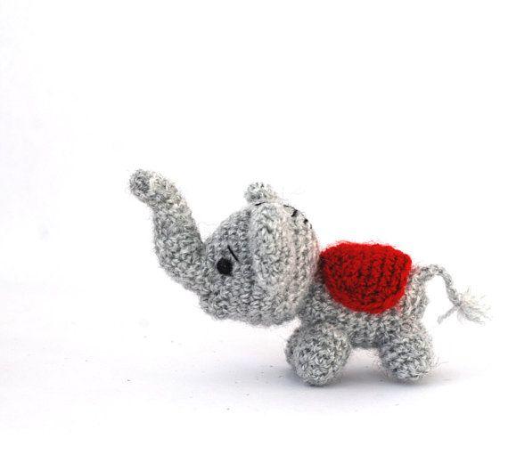 $21.86 #Amigurumi #elephant, #tiny elephant #doll, #small# toy, #littleelephant plush, #crochet elephant, #stuffed #animal, #luckyelephant, #fortune #doll #gift