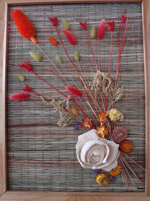 Впечатляющие картины в технике флористического коллажа
