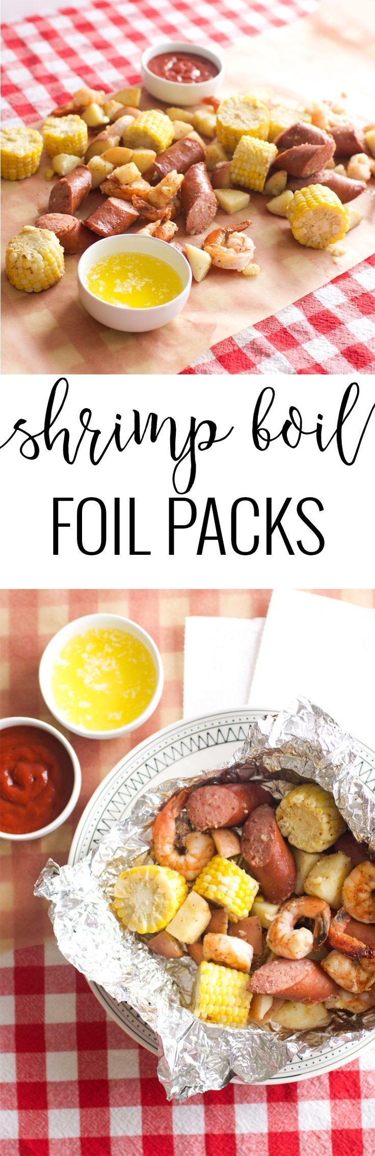 Shrimp Boil Foil Packs | foil packet meals | shrimp boil dinner ideas | easy shrimp boil recipes | foil dinner recipes | summer dinner recipes | homemade shrimp recipes | homemade summer recipe ideas | shrimp boil recipe ideas || Oh So Delicioso
