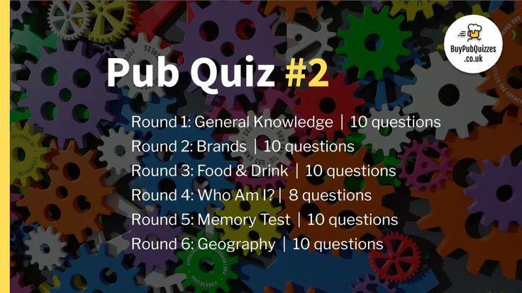 Pub Quiz #2 | Download & Host on Zoom in 2020 | Pub ...