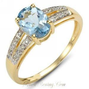 Cincin Blue Topaz CZ Ring 6. Model cincin yang sangat mewah dengan hiasan zircon pada logam yang di-isi emas kuning 10K dan bertahtakan simulated blue topaz yang tidak kalah penampilannya dengan cincin emas asli dengan permata blue topaz (tentu anda bisa bayangkan harganya...). Sangat aman untuk anda pakai sehari-hari tanpa harus takut di jambret orang.