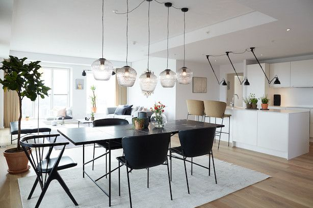 The HANDVÄRK Dining Table 230 in the first open house apartement at Carlsberg byen. Chairs from either Sibast or Friends&Founders are the perfect match.