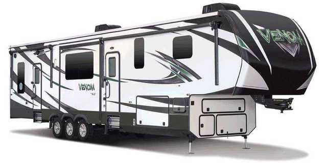 2016 New Kz Rv Venom 4013TK Toy Hauler in Ohio OH.Recreational Vehicle, rv, 2016 KZ RV Venom 4013TK 2016 KZ-RV Venom 4013TK Venom is more than the nicest toy hauler you'll ever encounter in your life. It just may be the nicest fifth wheel you'll ever encounter in your life! Venom is the lightest high-profile, wide-body, luxury toy hauler in the industry, and it will haul any toy you can dream of owning. But, don't let your imagination stop there. We should really refer to the garage area as…