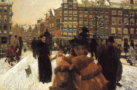 Breitner - Paleisstraat, Amsterdam 1896
