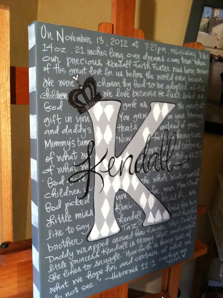 Buy canvas and paint it with high school colors and write about B for graduation party
