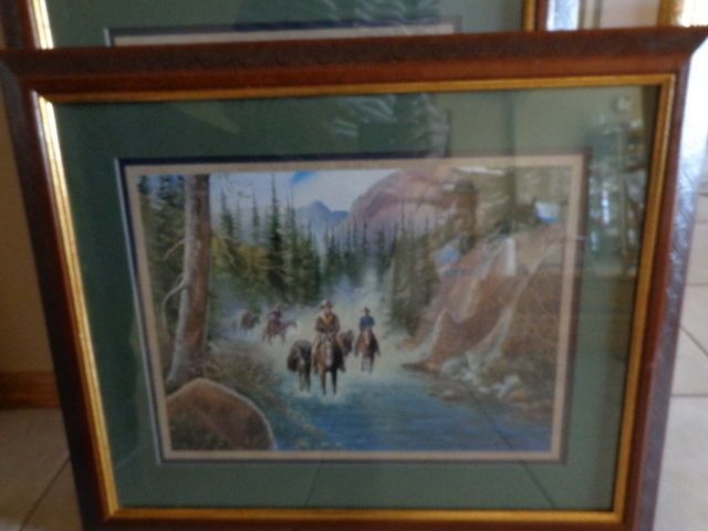 Exceptional Home Interiors Pictures Signed Exclusive Cowboys, Deer, Water, Mountains  Excelle