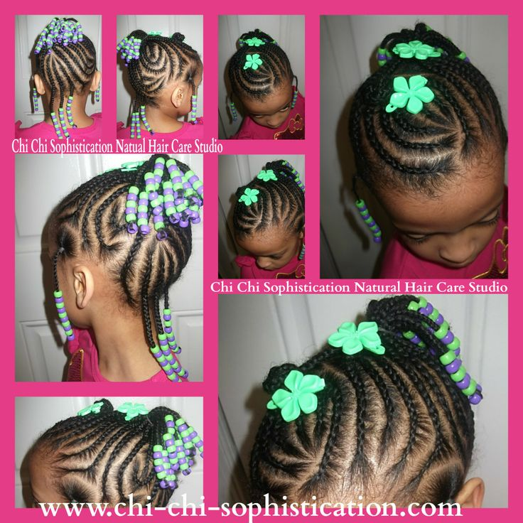 Cornrows for kids | Natural Hairstyles | Pinterest