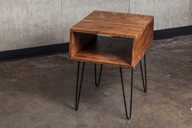hairpin leg table for nightstand style it pinterest