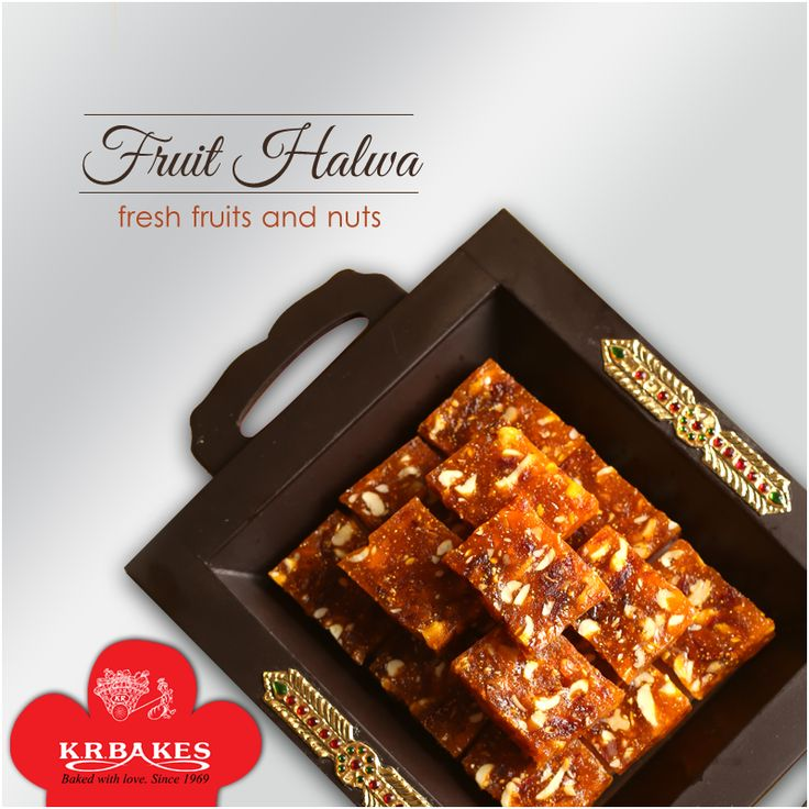Delicious Fruit Halwa. Eat them with your loved ones.  #KRBakes #KRBakesSince1969 #BakedWithLove #Halwa