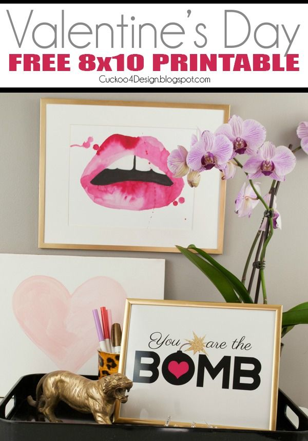 free Valentine's Day printable: You are the bomb ...