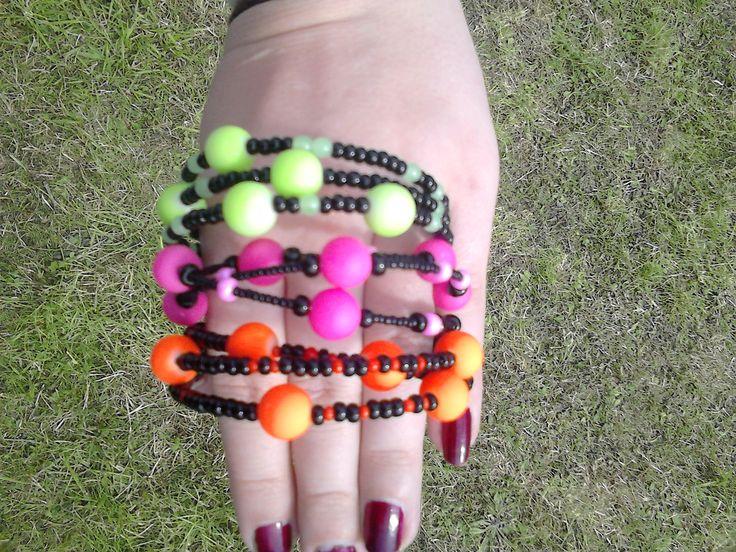 neon bracelets, love them !!!