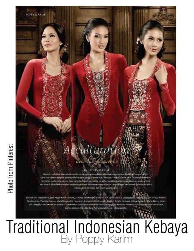 """Traditional Indonesian Kebaya"" by regina-eghie on Polyvore"