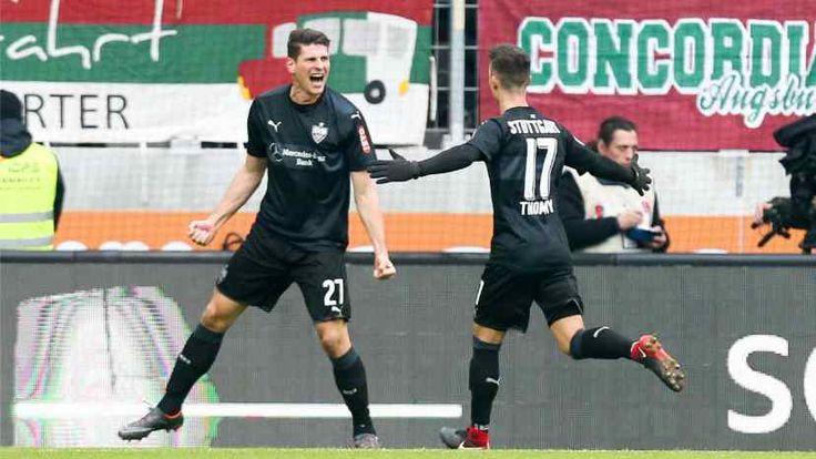 Mario Gomez (l.) kam aus Wolfsburg, Erik Thommy aus Augsburg