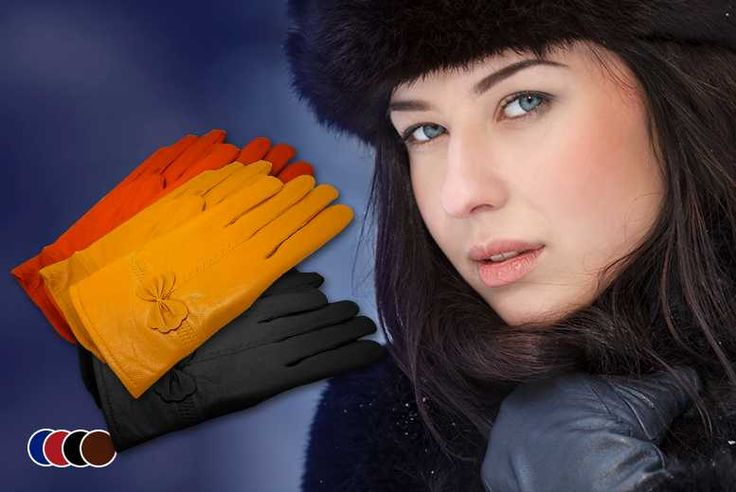 Leather Bow Gloves - 5 Colours!