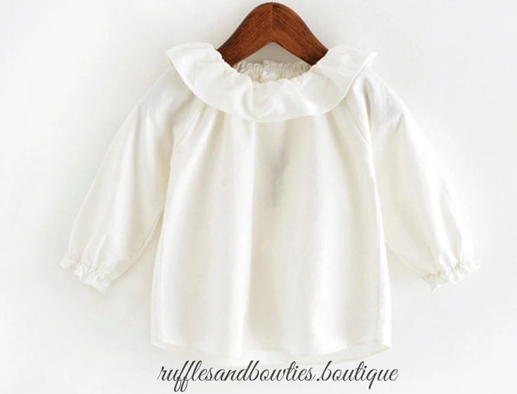 PRE ORDER - European Baby Girl Blouse/Shirt Ruffles Neck Long Sleeve Button Up Shirt - Kids Fall Clothes - Baby Fall Blouse - Blouse for Layering