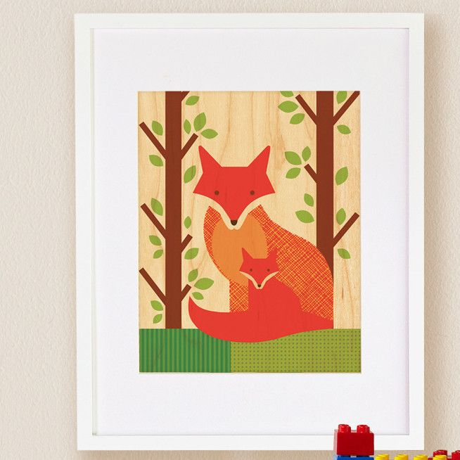 Features:  -Maple veneer is sustainably grown and chemical free.  -Matted and framed in white hardwood frame.  -Lead and phalate free.  -Print on wood.  -Made in the USA.  -Fox collection.  Country of