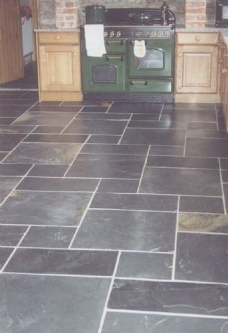 gray tile floor kitchen. Kitchen Flooring Ideas  Pros Cons and Cost of Each Option The 25 best Slate floor kitchen ideas on Pinterest Grey slate