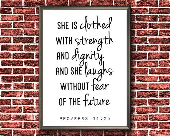 Scripture Wall Art  She Is Clothed With Strength And Dignity