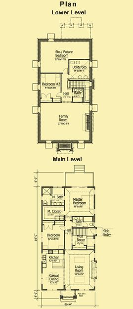 Best 25 small cottage plans ideas on pinterest small for Narrow bungalow house plans