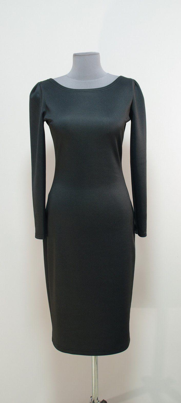 Темно-серое платье-карандаш | Платье-терапия от Юлии