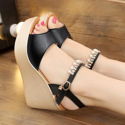 9028cb8b05b9 Platform Open Toe Beading Summer Wedge Sandal Plus Size
