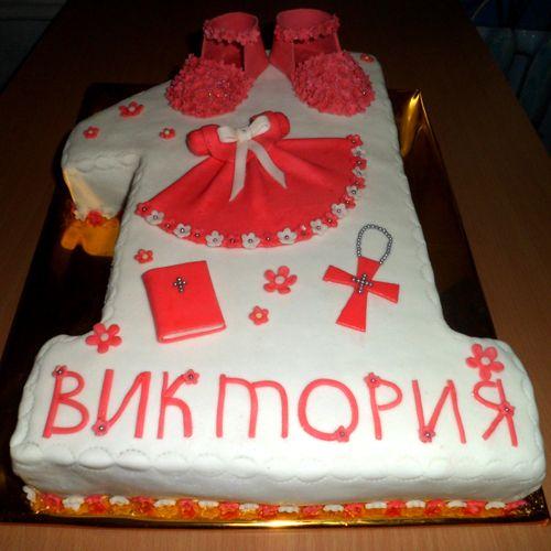 Торт на 1 годик и крестины #торт_на_заказ_одесса #для_девочек #бисквитный_торт