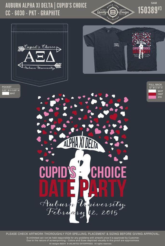 """Auburn Alpha Xi Delta: """"Cupid's Choice"""" Date Social"""