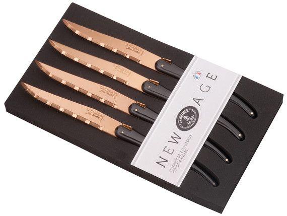 """New Age"" copper effect blade steak knives Laguiole Jean Dubost"