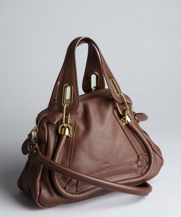Chloe brown leather 'Paratay' small shoulder bag