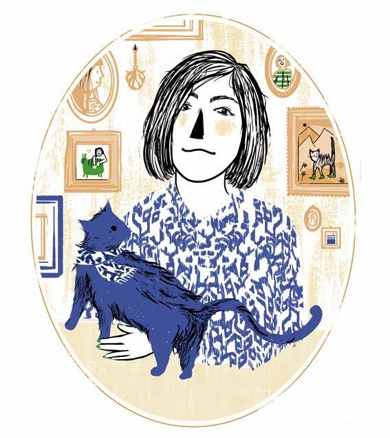 Paola Rollo, Autoritratto con gatto. Era un bravo gatto, nero ma non troppo.