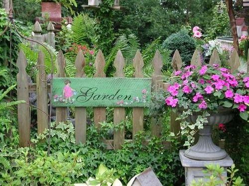 I like vintage garden signs......