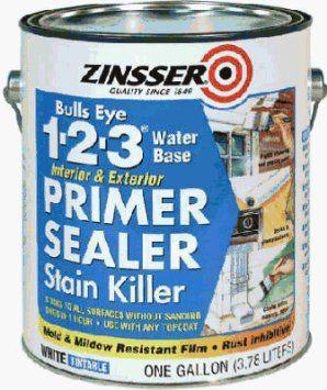 "Amazon.com: Zinsser 2004 ""Bulls-eye"" Primer Sealer and Stain Killer 1-2-3 Qt: Patio, Lawn & Garden"