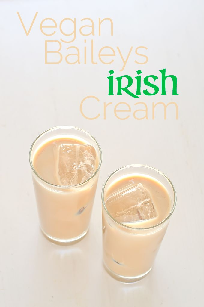 Vegan Baileys Irish Cream - With coconut/almond milk with Whiskey and either agave/honey or maple syrup.