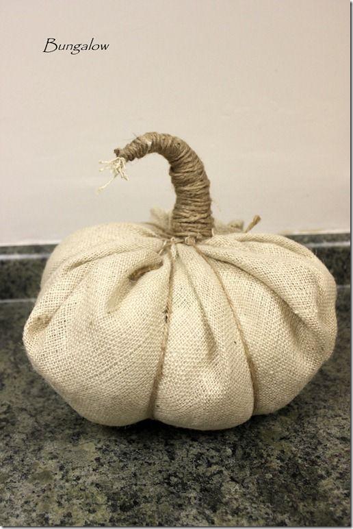 burlap and twine pumpkin