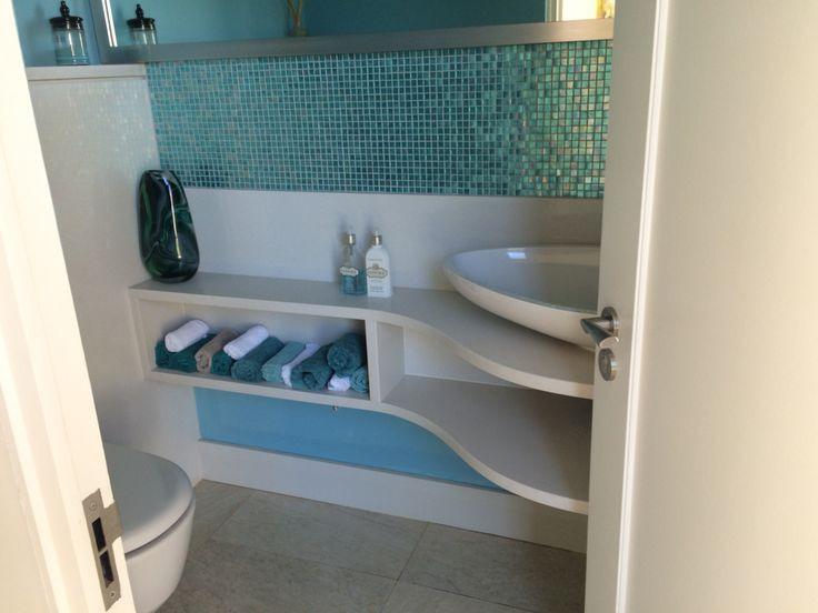 Make a show stopper of your guest bathroom, even if it is small
