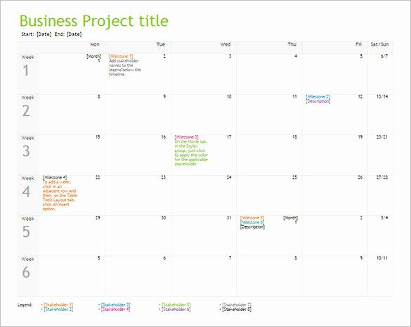 Business Plan Timeline Template Inspirational 10 Business Timeline