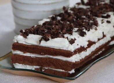 Čokoládová torta so šľahačkou (bez múky)