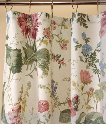 English Country Cottage Plaid Curtains | ... Curtains, White Shower Curtains, Vinyl Shower Curtain - Country