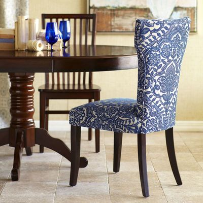 pier 1 imports carmilla blue damask dining chair